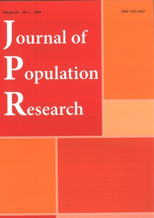 Journal of Population Research Cover